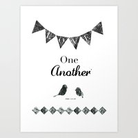 Love one another. Art Print