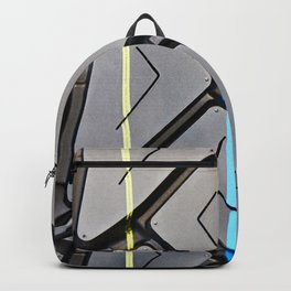 Background tread pattern truck tire Backpack