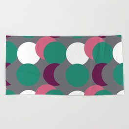 Overlapping Dots Beach Towel