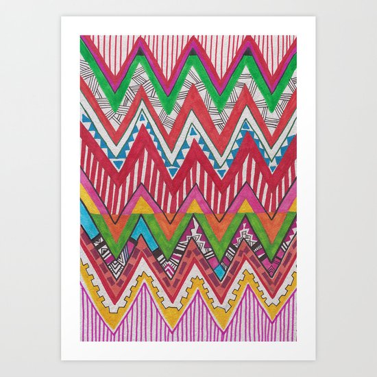 Peruvian Waves Art Print
