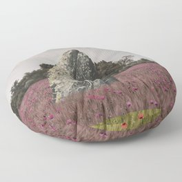 wild whale wood flower Floor Pillow