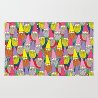 gnome Area & Throw Rugs featuring Mister Gnome by Lydia Meiying