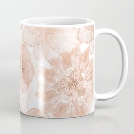Flowers and Lace- Floral pattern in pink Coffee Mug