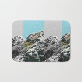 two-tone seaside cliffs Bath Mat