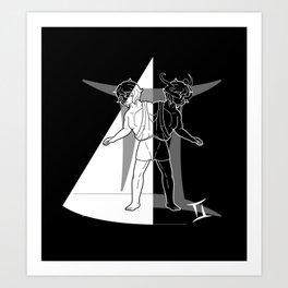 Monstrous Zodiacs: Gemini, the Doppelganger Art Print