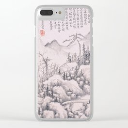 Mountain Retreat Clear iPhone Case