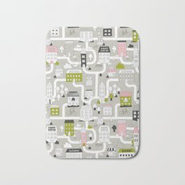 City map Bath Mat