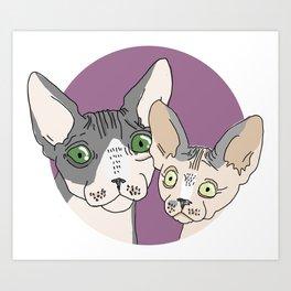 Nick and Vic Art Print