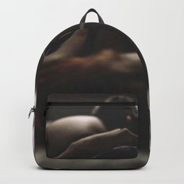 Hot sexy girl big cute breat in bed Backpack