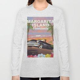 Margarita Island Venezuela travel poster Long Sleeve T-shirt