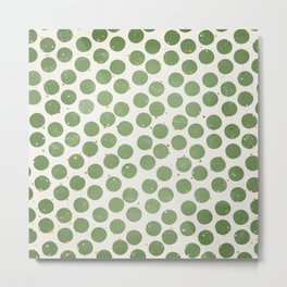 Green Dots and Gold Stars Metal Print