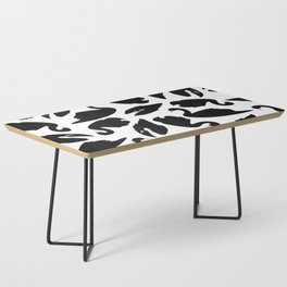 Black Swan Pattern on White 031 Coffee Table