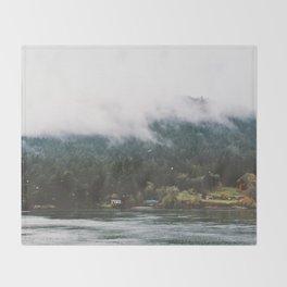 Foggy Vancouver Island, BC Throw Blanket