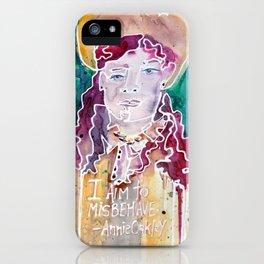 Annie Oakley iPhone Case