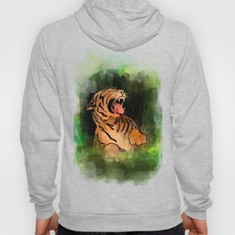 Vintage watercolor Tiger Hoody