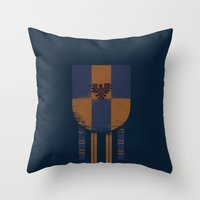 ravenclaw Throw Pillows featuring ravenclaw crest by nisimalotse