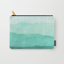 Ombre Waves in Teal Carry-All Pouch