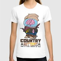 returns T-shirts featuring country returns by benjamin chaubard