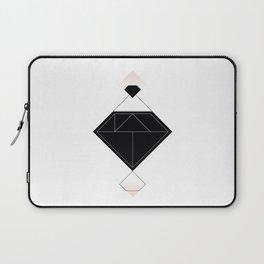 Tangram Diamond Linework Black Laptop Sleeve