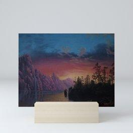 Sunset in California landscape painting by Gilbert Munger Mini Art Print