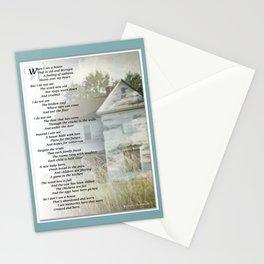Old Homes (Poem) Stationery Cards