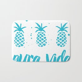 Pura vida pineapples Bath Mat