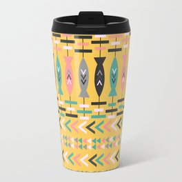 Fish aztec pattern- yellow Travel Mug