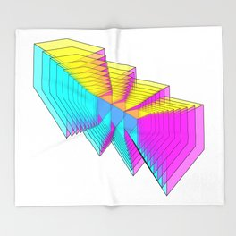 Cubes 4 Throw Blanket