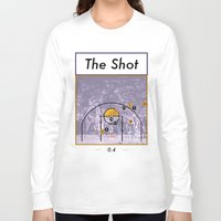 lakers Long Sleeve T-shirts featuring The Shot Series, Derek Fisher by Dyllin Shane