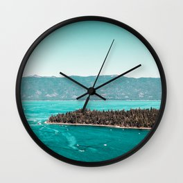 Even in the summer this lake looks like a frozen glass. Wall Clock