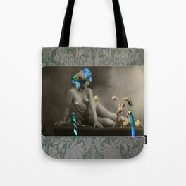 The Strongman & The Hooping Showgirl Tote Bag
