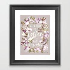 Coffee & Concealer – Spring Palette Framed Art Print
