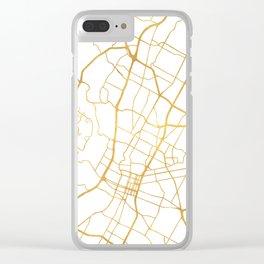 AUSTIN TEXAS CITY STREET MAP ART Clear iPhone Case