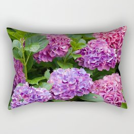 Pink & Purple Flowers Rectangular Pillow