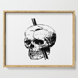 Skull of Phineas Gage With Tamping Iron Serving Tray