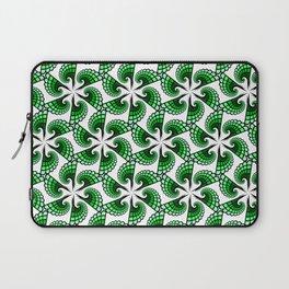 Beautful whirling green spirals Laptop Sleeve