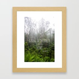 Going to the Forest Framed Art Print