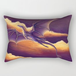 Sunset Dragon Rectangular Pillow
