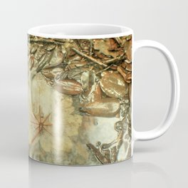 On the Tradewinds trail we find this (white side) Yagrumo tree leaf - El Yunque rain forest Coffee Mug