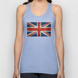 UK flag, High Quality bright retro style Unisex Tank Top