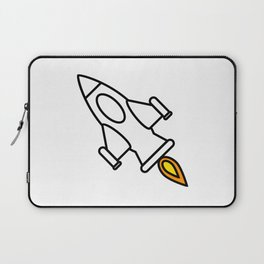 Space Rocket Cartoon Laptop Sleeve