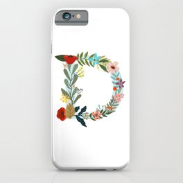 Monogram letter D iPhone Case