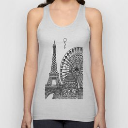 Paris Silhouettes Unisex Tank Top