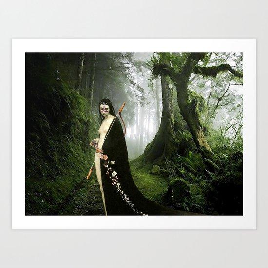 Diana - Mononoke Hime Art Print