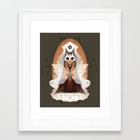 lord of the ring Framed Art Prints featuring Ytuty Lord of Owls by Mark Facey