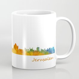 Jerusalem City Skyline Hq v1 Coffee Mug