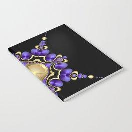 Purple Satin Golden Peace Notebook