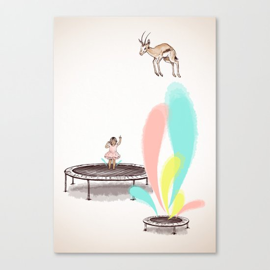 Gazelles Make Bad Friends Canvas Print