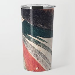 Thunder&Lightning {3}: Minimal watercolor abstract in pinks, blues, and greens Travel Mug