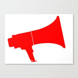 Red Isolated Megaphone Canvas Print